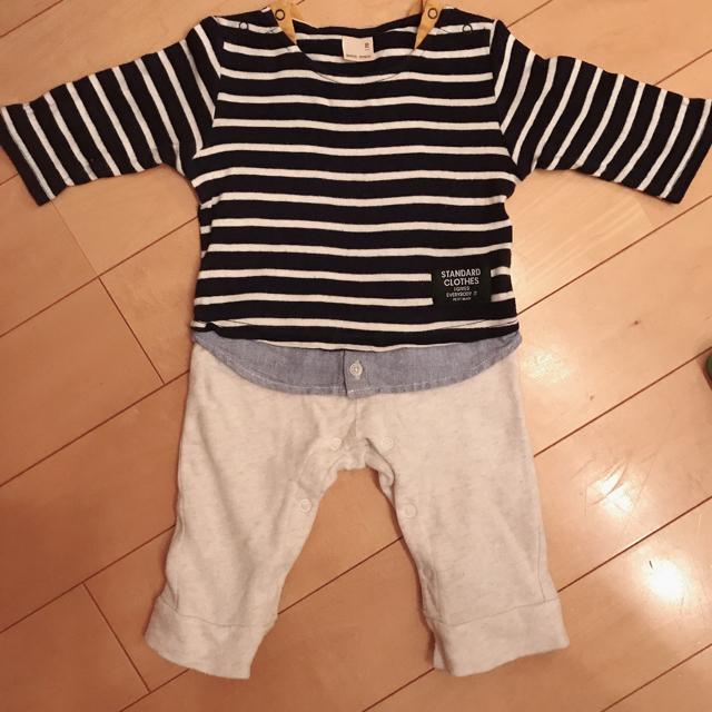 petit main(プティマイン)のpetit main 長袖カバーオール 70 キッズ/ベビー/マタニティのベビー服(~85cm)(カバーオール)の商品写真
