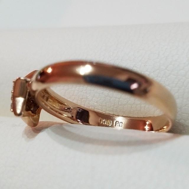 PonteVecchio(ポンテヴェキオ)のダイヤ綺麗です♣️K18リング ダイヤモンドリング (12号) PG レディースのアクセサリー(リング(指輪))の商品写真