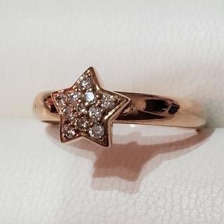 ポンテヴェキオ(PonteVecchio)のダイヤ綺麗です♣️K18リング ダイヤモンドリング (12号) PG(リング(指輪))