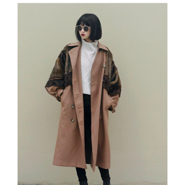 MURUA(ムルーア)のmurua ロングダブルトレンチ  レディースのジャケット/アウター(トレンチコート)の商品写真