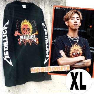 ワンオクロック(ONE OK ROCK)のXL)長袖T METALLICA  REBEL ロックTシャツ(Tシャツ/カットソー(七分/長袖))