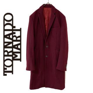 TORNADO MART - TORNADO MART トルネードマート チェスターコート ワインレッド