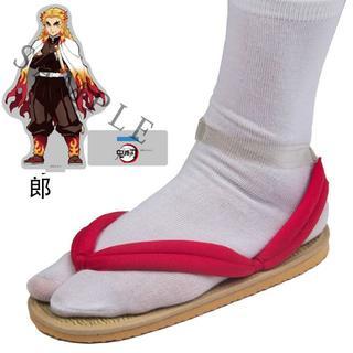 鬼滅の刃 煉獄杏寿郎 下駄 コスプレ用 道具 靴(靴/ブーツ)
