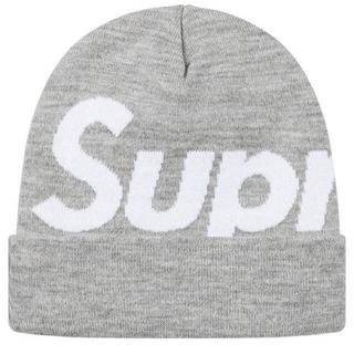 Supreme - Supreme Big Logo Beanie Gray
