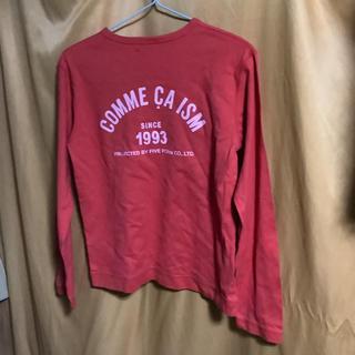 コムサイズム(COMME CA ISM)の緋色  コムサ キッズ用 150サイズ ですが  レディース S〜 M(Tシャツ(長袖/七分))