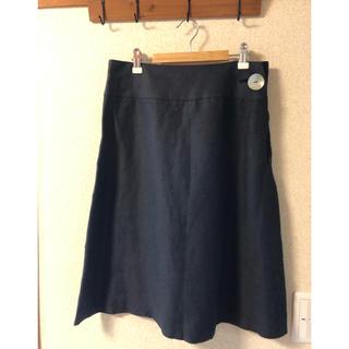 ニューヨーカー(NEWYORKER)のSallyScott サリースコット ダークネイビー定番スカート 9号¨̮♡︎(ひざ丈スカート)