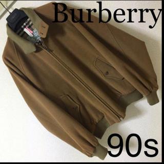 BURBERRY - 90s◆Burberry バーバリー◆メルトン スウィングトップ ノバチェック