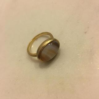 アッシュペーフランス(H.P.FRANCE)のフリュイジョリ 天然石ゴールドリング✨美品(リング(指輪))