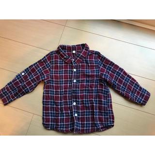ムジルシリョウヒン(MUJI (無印良品))の無印良品 チェックシャツ 100cm(ブラウス)