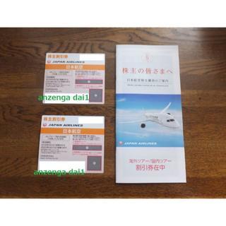 JAL(日本航空) - JAL株主優待券2枚+優待冊子1冊●日本航空