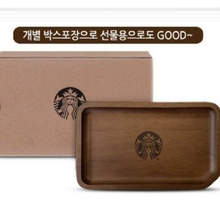 Starbucks Coffee - 韓国 スタバ スターバックス ミニウッドトレイ 新品 未使用 限定