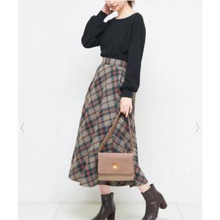 ナチュラルクチュール(natural couture)のnatural couture ビッグチェックバイヤススカート(ロングスカート)