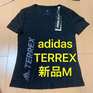 adidas - 【新品】Mサイズ adidas WロゴTシャツ 女性用スポーツシャツ