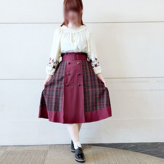 axes femme - 新品タグ付き☆アクシーズファム 柄切り替えミディスカート