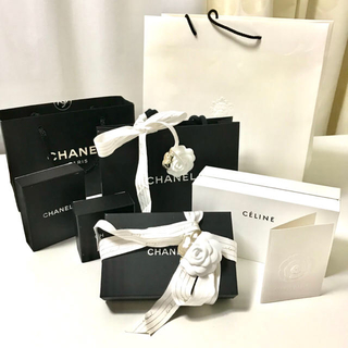 CHANEL - 送料無料 シャネル セリーヌ 空箱 ショップ袋 ショッパー 紙袋 リボン
