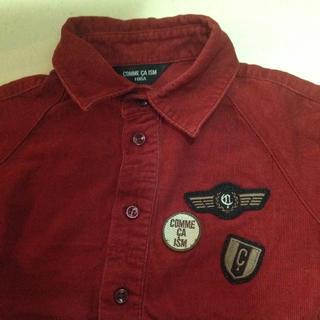 コムサイズム(COMME CA ISM)の美品 コムサイズム コーデュロイ バーガンディ ボルドー 100 長袖シャツ(ブラウス)