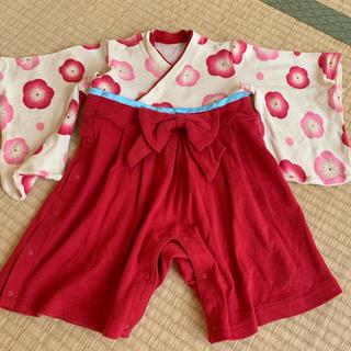 ベルメゾン(ベルメゾン)の袴ロンパース 女の子(和服/着物)