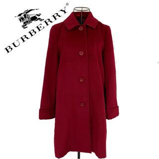 バーバリーブラックレーベル(BURBERRY BLACK LABEL)のburberry  バーバリー スエード トレンチコート レディース 赤 冬物(トレンチコート)