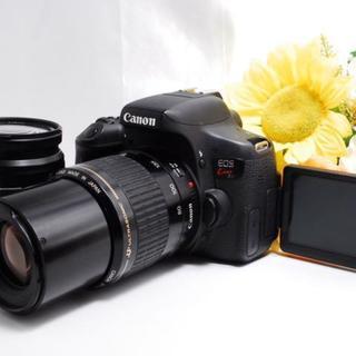 キヤノン(Canon)の【Wi-Fi&自撮り!】Canon Kiss X8i ダブルレンズ セット(デジタル一眼)