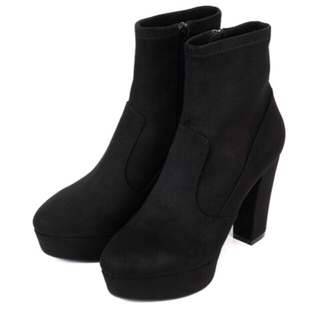 アールアンドイー(R&E)の★新品★痛くない&歩きやすい スェード ブーツ ブラック M(ブーツ)