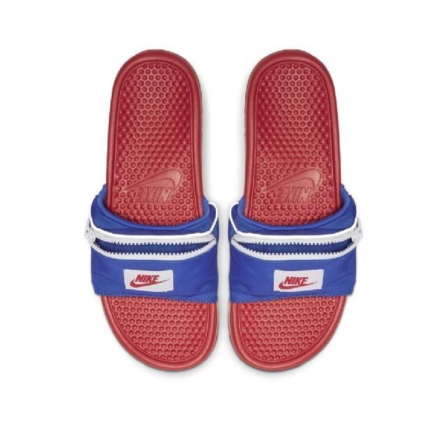 NIKE(ナイキ)のナイキ●新品タグ付き●ポケットベナッシ●25cm●青×レッド メンズの靴/シューズ(サンダル)の商品写真