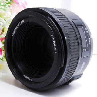 【フルサイズ対応!! 】Nikon用 50mm/F1.8 単焦点レンズ(レンズ(単焦点))