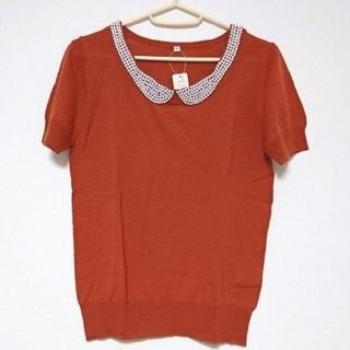 ディーエイチシー(DHC)の【DHC】パール襟付き半袖ニット(ニット/セーター)