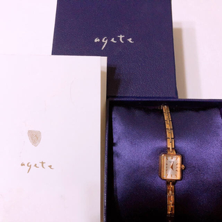 agete - agate アガット ブレスレット腕時計 ゴールド