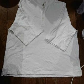 ジーユー(GU)のポロシャツ 白 S(ポロシャツ)