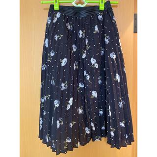 ノエラ(Noela)のノエラ 花柄プリーツスカート(ひざ丈スカート)