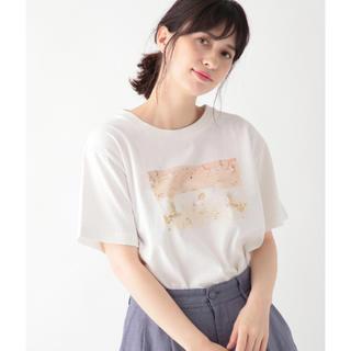 サマンサモスモス(SM2)のstudio clip  プリントTシャツ   merlot、サマンサモスモス(Tシャツ(半袖/袖なし))