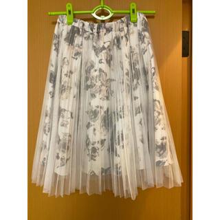 ノエラ(Noela)のノエラ 花柄プリーツチュールスカート(ひざ丈スカート)