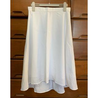 ギャップ(GAP)のフィッシュテールスカート ホワイト GAP(ひざ丈スカート)