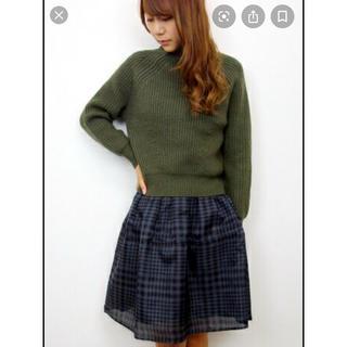 フレイアイディー(FRAY I.D)の☆美品☆ FRAY I.D チェックスカート(ひざ丈スカート)