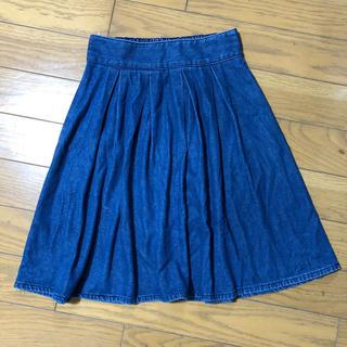 GU - デニムスカート フレアスカート プリーツスカート