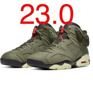 NIKE - NIKE AIR JORDAN6 Travis Scott aj6 23.0cm