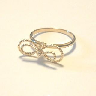 指輪  K16GP  リボンリング(リング(指輪))