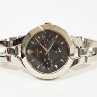 セイコー(SEIKO)のセイコー ルキア カットガラス 黒 電池新品 完動品 (腕時計)
