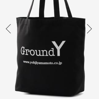 Yohji Yamamoto - GroundY/キャンバスロゴトートバッグ