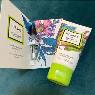 L'OCCITANE - 新品未使用 HERBAE サンプル 香水 50ml ボディミルクセット