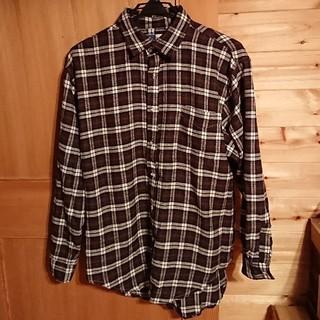 メンズチェックシャツ/ブラウン(シャツ)