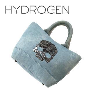ハイドロゲン(HYDROGEN)のHYDROGEN ハイドロゲン ハンドバッグ デニム スタッズ ドクロ(トートバッグ)