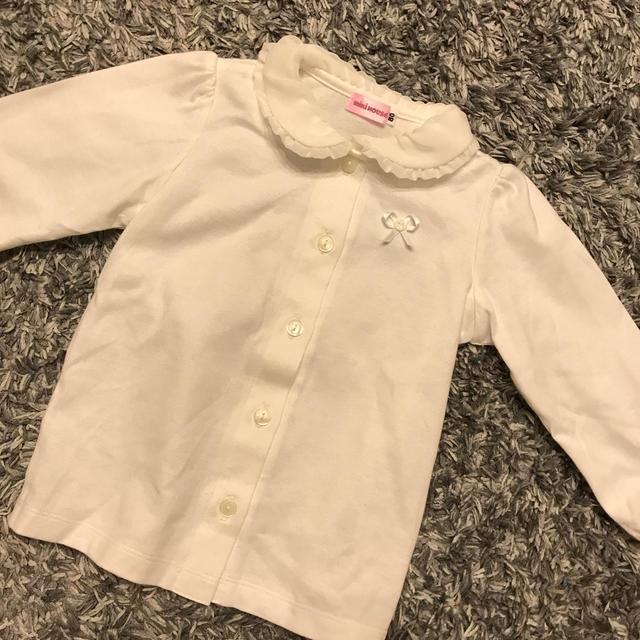 mikihouse(ミキハウス)のブラウス80サイズ キッズ/ベビー/マタニティのベビー服(~85cm)(シャツ/カットソー)の商品写真