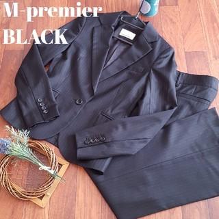M-premier - エムプルミエ ブラック ストライプ パンツスーツ ビジネス OL フォーマル