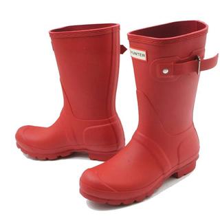 ハンター(HUNTER)の新品♡オレンジ レインシューズ 長靴(レインブーツ/長靴)