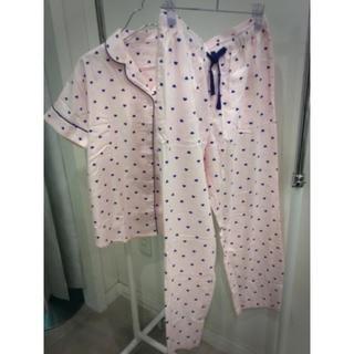 GU - gu パジャマ 半袖&ロングパンツ ハート