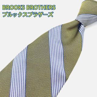 ブルックスブラザース(Brooks Brothers)のブルックスブラザーズ ネクタイ 高級シルク アメリカ製 ストライプ 黄色(ネクタイ)