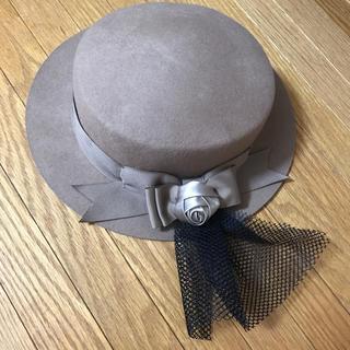 axes femme - axes femme  ベージュRoseとリボン付き帽子