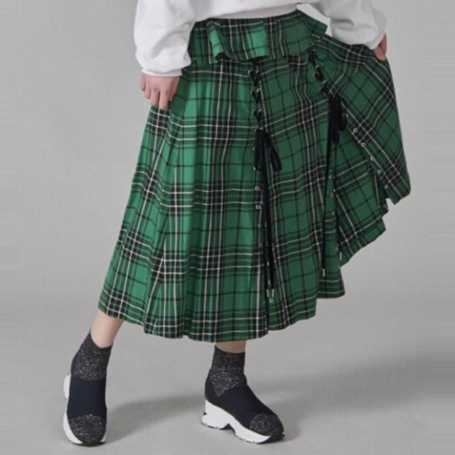 snidel(スナイデル)の大人気 チェックスリットスカート レディースのスカート(ロングスカート)の商品写真