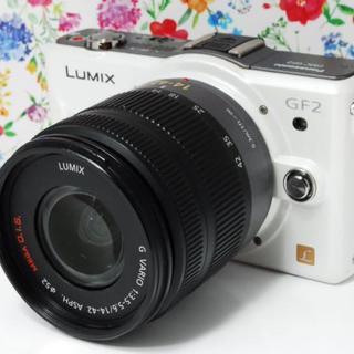 パナソニック(Panasonic)の❤️可愛くて軽量❤️Panasonic LUMIX GF2 レンズセット(ミラーレス一眼)